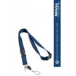 Šnúrka na krk - modrá