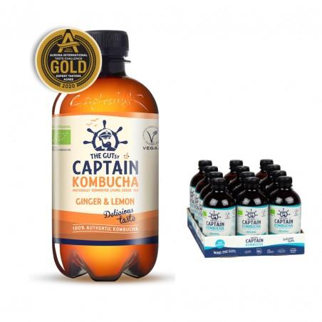 Captain Kombucha Ginger-Lemon (12x400ml)